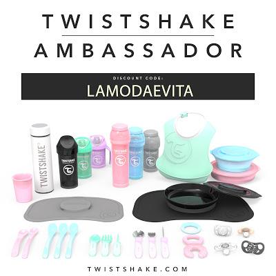 Twistshakes biberones, tazas y vajillas para bebés y un regalo para vosotros